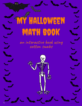 My Halloween Math Book (using Cotton Swabs)