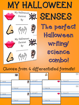 My Halloween Senses Primary Writing Science Minibook 5 Sen
