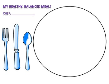 My Healthy Balanced Meal - plate template