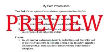 My Hero Presentation Project