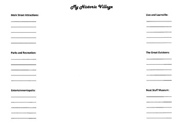My Historic Village Park Guide (Blank Template)