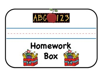My Homework Box