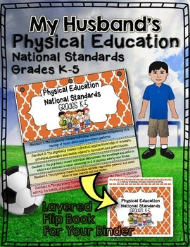 PHYSICAL EDUCATION NATIONAL STANDARDS BINDER FLIP BOOK: GR