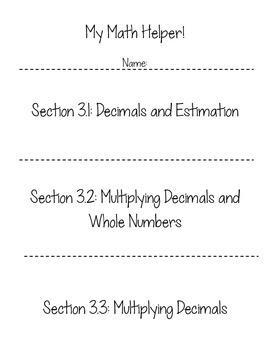 """My Interactive Math Helper"": Multiplying and Dividing Decimals"
