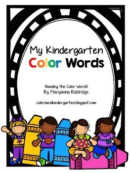 My Kindergarten Color Words