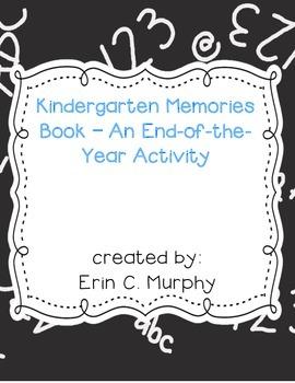 My Kindergarten Memories Book