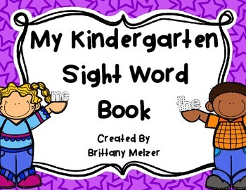 My Kindergarten Sight Word Book