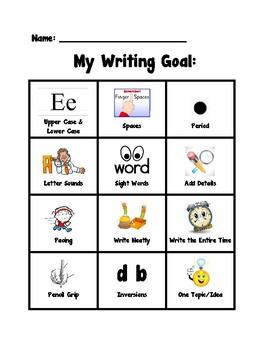 My Kindergarten Writing Goal (Advanced/Detailed)