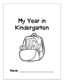 My Kindergarten Year Reflection Book