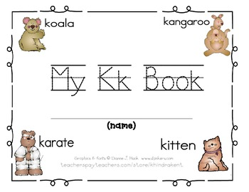 My Kk Book {letter study & sight word there}