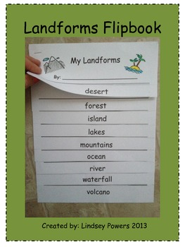 My Landforms FlipBook