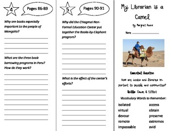 My Librarian is a Camel Trifold - Journeys 4th Grade Unit