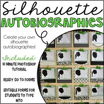 Silhouette Autobiographies {Photoshop Tutorial and Editabl