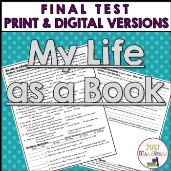 My Life as a Book Final Test