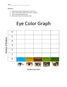 Eye Color Graph and Record Sheet