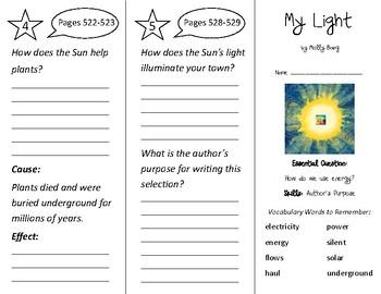 My Light Trifold - Wonders 2nd Grade Unit 6 Week 2