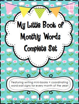 My Little Book of Monthly Words Complete Set