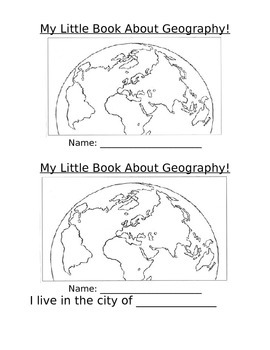 My Little Idaho Geography Booklet