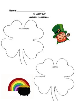 My Lucky Day Graphic Organizer - Character and Setting