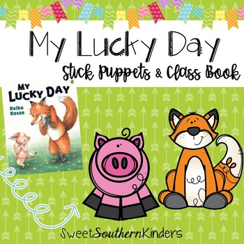 My Lucky Day Stick Puppets & Writing Activity St. Patrick'