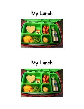 My Lunch Emergent Reader and sentence strips