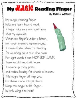 My Magic Reading Finger Poem