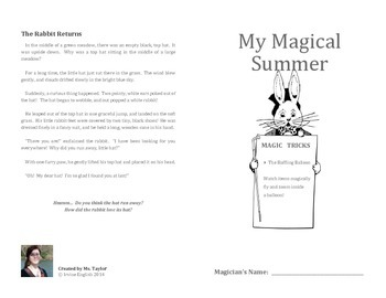 My Magical Summer 2: Teaching science through simple magic tricks