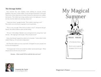 My Magical Summer: Teaching science through simple magic tricks