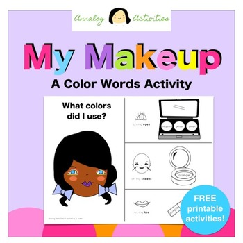 My Makeup: A Color Words Activity (FREE Literacy Printable!)