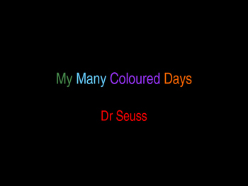 My Many Colored Day Dr Seuss