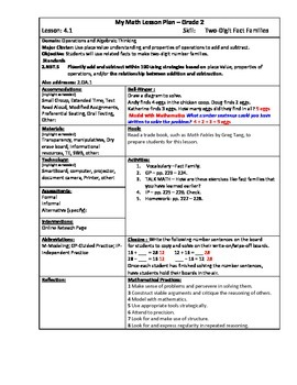My Math (McGraw-Hill) Grade 2 Chapter 4 Lesson Plans
