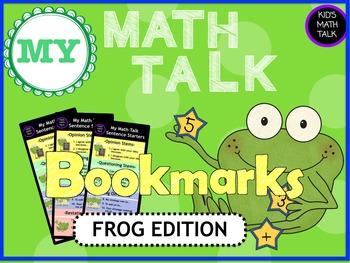 My Math Talk Sentence Starters - FROG edition