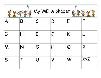 My Me Alphabet