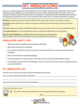 My Medications - Definitions and Safety Rules