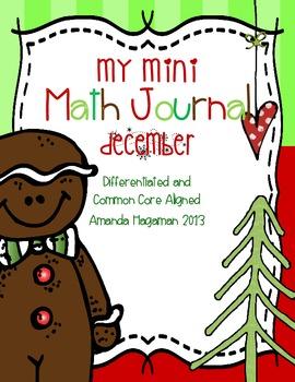 My Mini Math Journal December