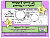 My Monarch & Painted Lady Butterfly Observations #kinderfriends