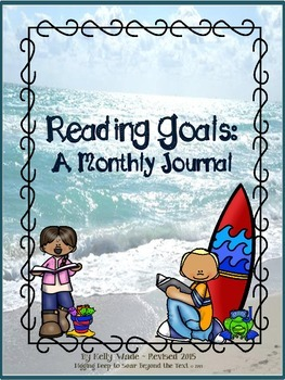 My Monthly Reading Goals ~ Beach Themed.