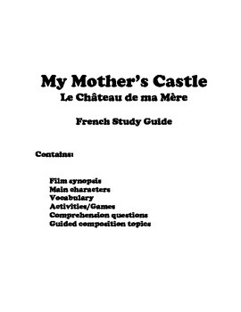 My Mother's Castle-French Study Guide