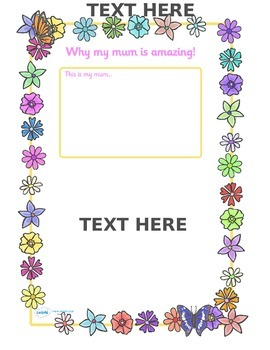 My Mum Is Amazing Page Borders