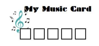 My Music Card - Reward Punch Card