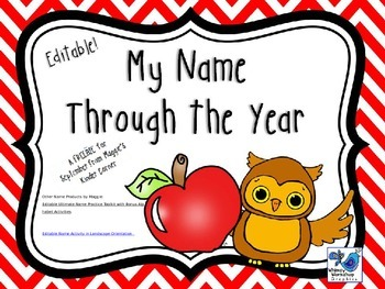 My Name Through the Year September FREEBIE