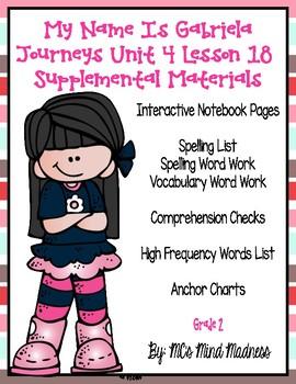My Name is Gabriela Journeys Unit 4 Lesson 18