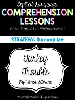Turkey Trouble - Summarize Comprehension Lesson Plan