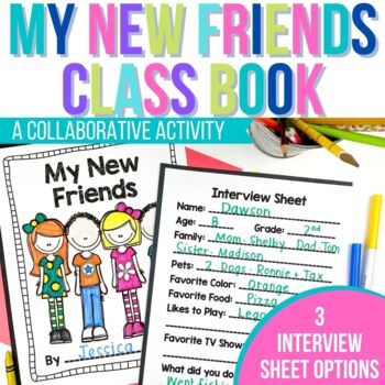 Back to School Activity - My New Friends Book - Ice Breaker