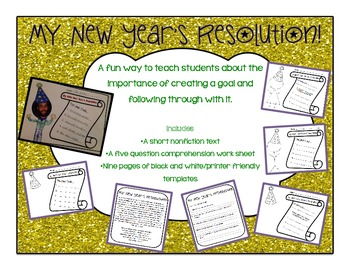 My New Year's Resolution Nonfiction Comprehension and Bull