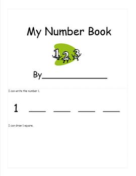 My Number Book (Number writing 1-10)