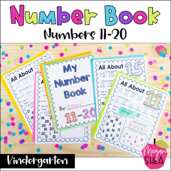 My Number Book Numbers 11-20. Kindergarten Math