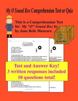 My O Sound Box Comprehension Test or Quiz