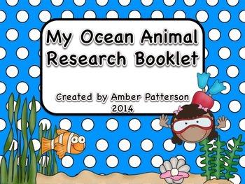 My Ocean Animal Research Booklet