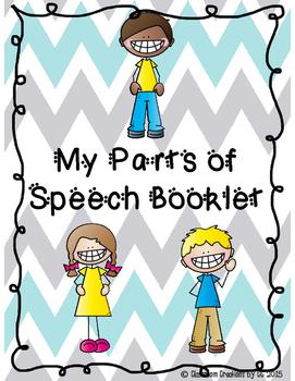 Parts of Speech Booklet-Nouns, Verbs, Adjectives, Pronouns